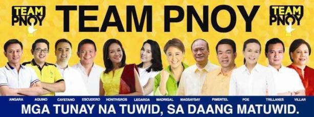 Pro-administration Team Pnoy senatorial slate