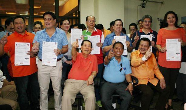UNA: opposition senatorial slate