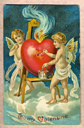 Valentine card c.1909 (photo from Wkipedia)