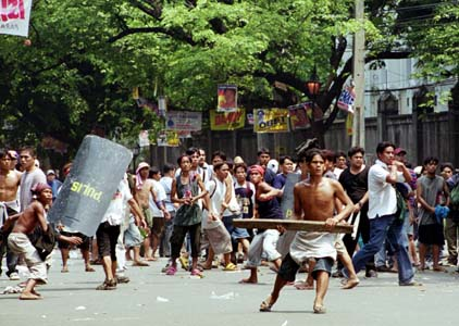 Storming the Presidential Palace, EDSA III, May 1, 2001