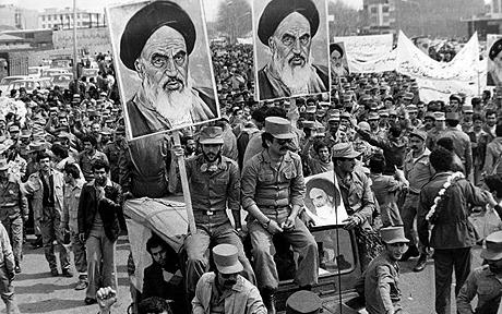 Soldiers, priests, and ordinary people unite against the Shah during the 1979 Iranian revolution