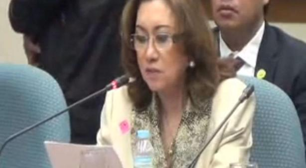 Ruby Tuason at the Senate  (photo by Philippine Daily Inquirer)