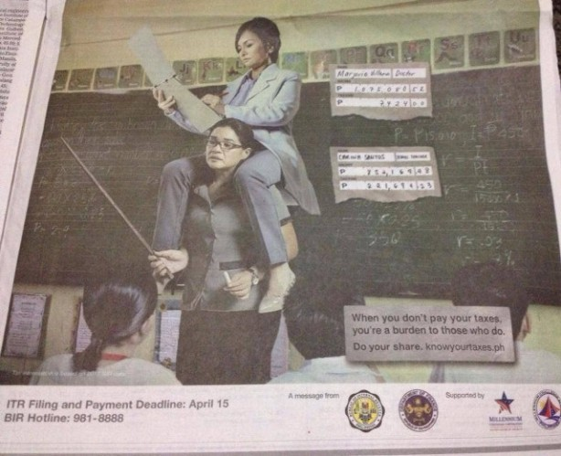 BIR ad shaming doctors as burdens of honest taxpayers