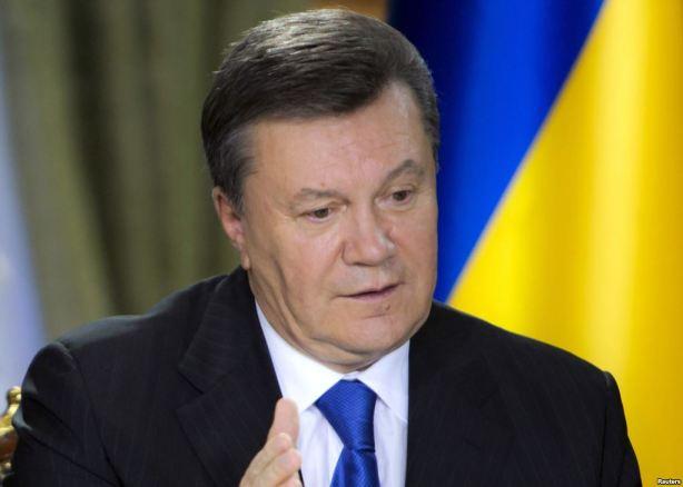 Ousted Ukrainian President Viktor Yanukovych