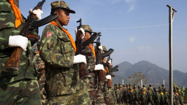 Shan secessionist soldiers