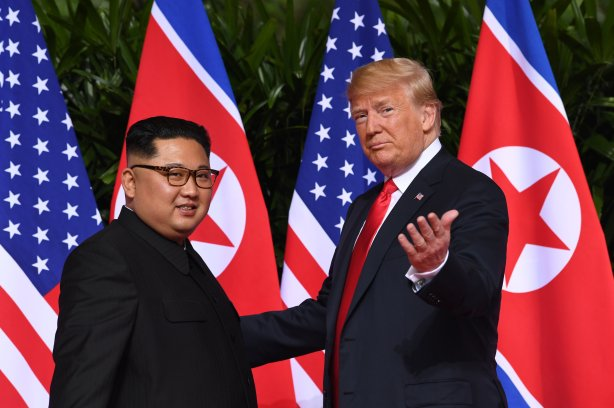 Kim Trump summit photo