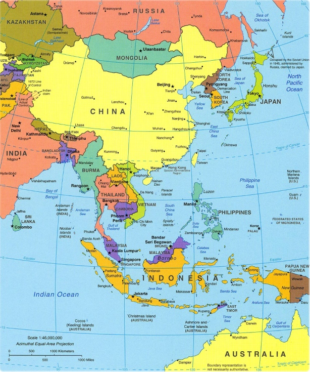 southeast-asia-political-map